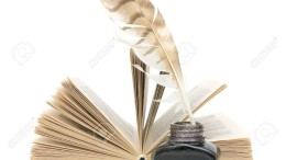 16459197-pen-inkwell-and-an-open-book-on-a-white-background-with-reflection-closeup-Stock-Photo